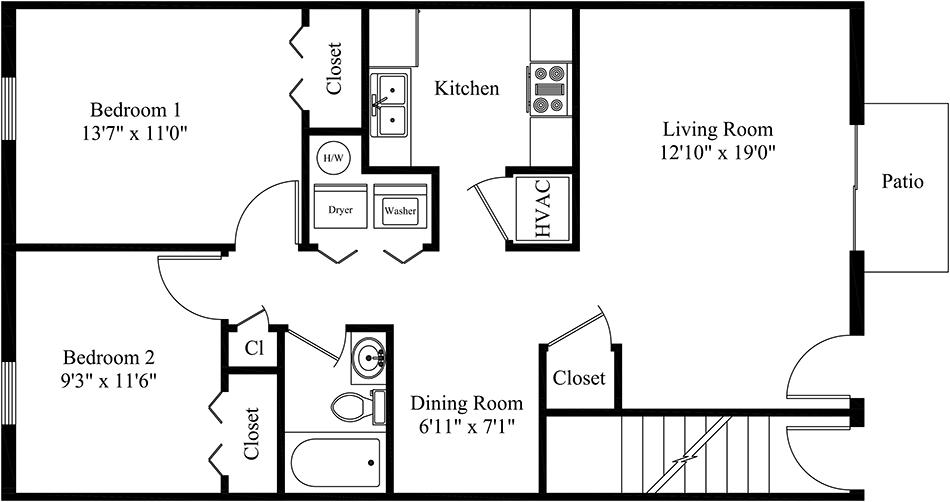 Floor Plans For Duplex Apartments further Flowers furthermore Floor Plans together with 38454 together with Two Bedroom Apartment. on two bedroom apartment plans